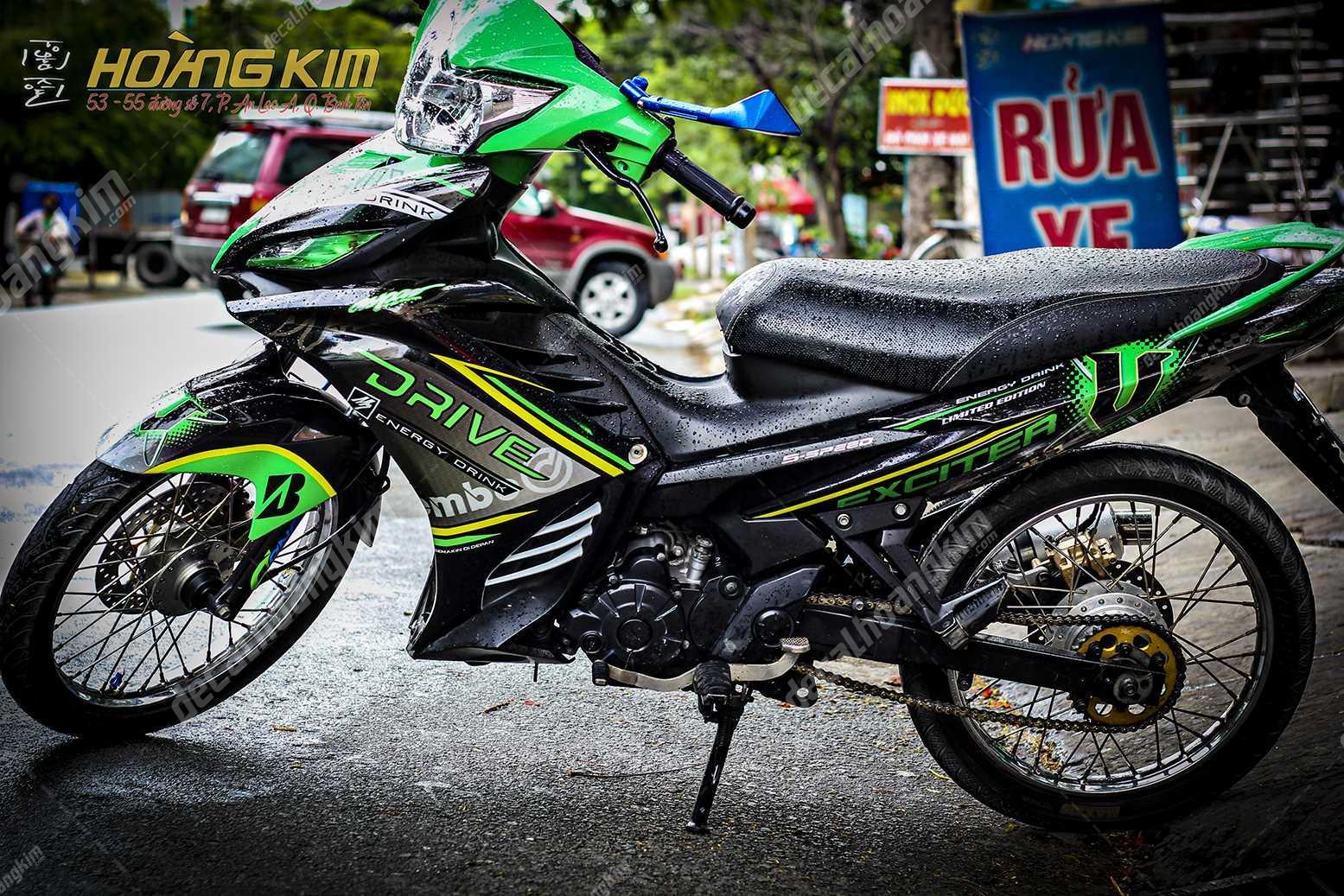 Tem Chế Exciter 135 - Drive Energy | Decal Hoàng Kim