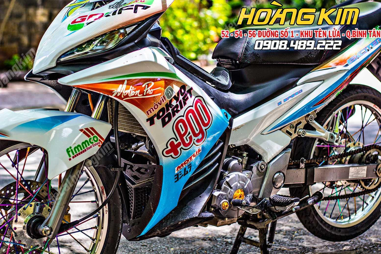 Tem xe Exciter 135 -  Ego | Decal Hoàng Kim