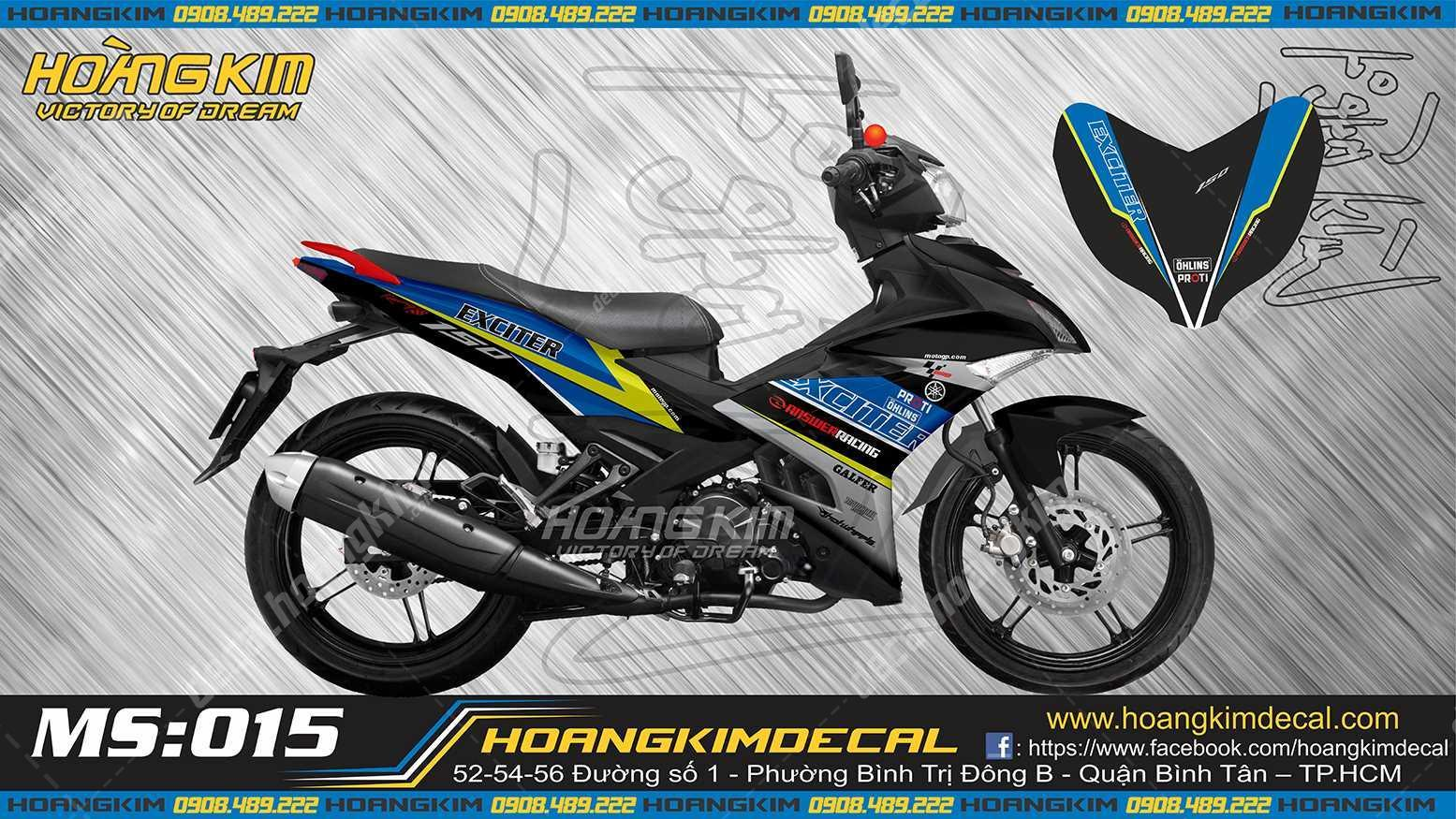 tem xe exciter  answerracing decal hoang kim